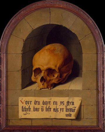 Barthel Bruyn the Elder, Skull in a Niche.