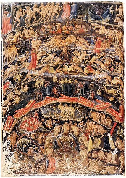 Bartolomeo Di Fruosino - les cercles de l\'enfer entre 1430 et 1435