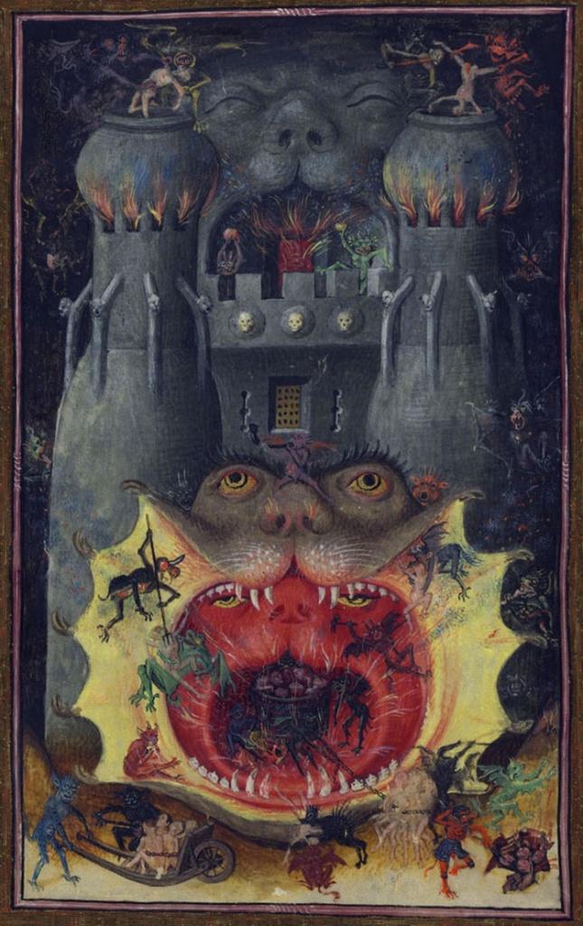 Bouche de l\'enfer-Heures de Catherine de Cleves, vers 1440