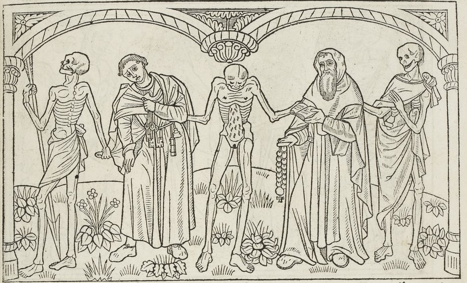 Illustration de Danse Macabre au Moyen Age