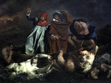Dante et Virgile aux enfers, la Barque de Dante - Eugène Delacroix