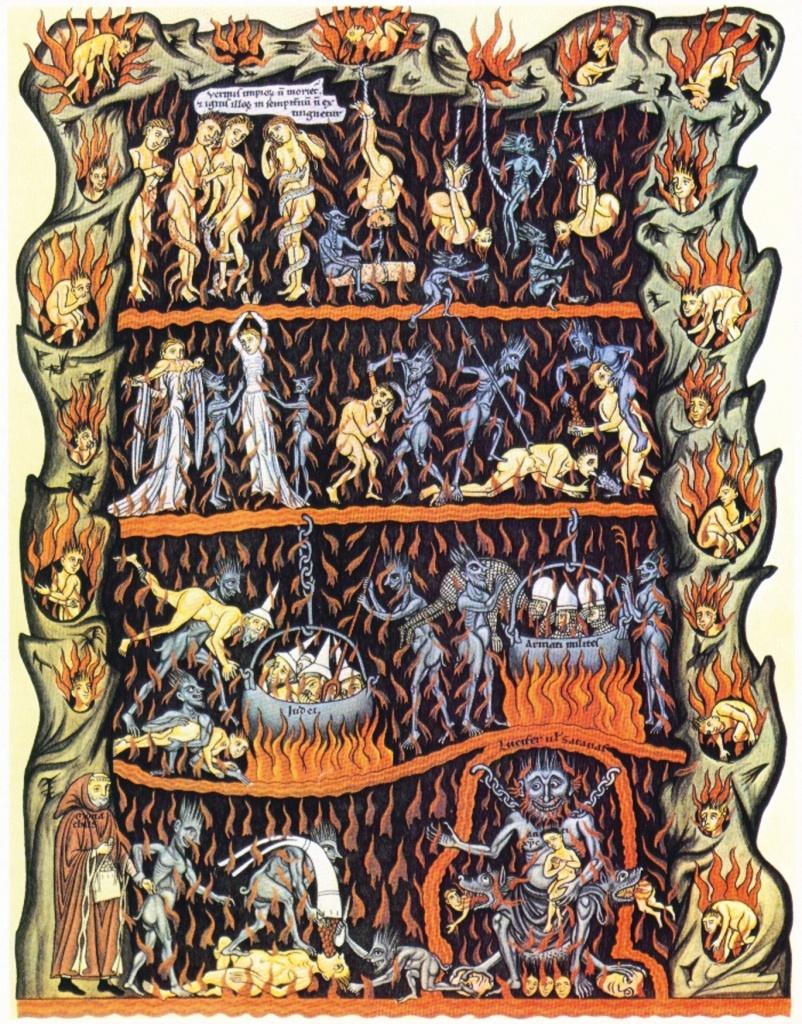 Hortus Deliciarum - Herrade de Landsberg, XIIeme siècle