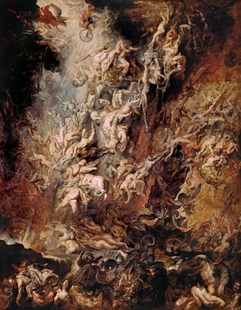 La chute des damnés - Rubens - 1re moitié de XVIIe siècle