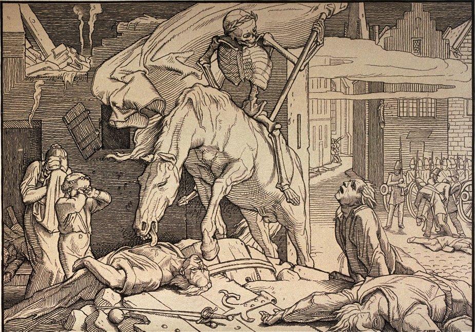 Le renouveau du Triomphe de la Mort par Rethel en 1848