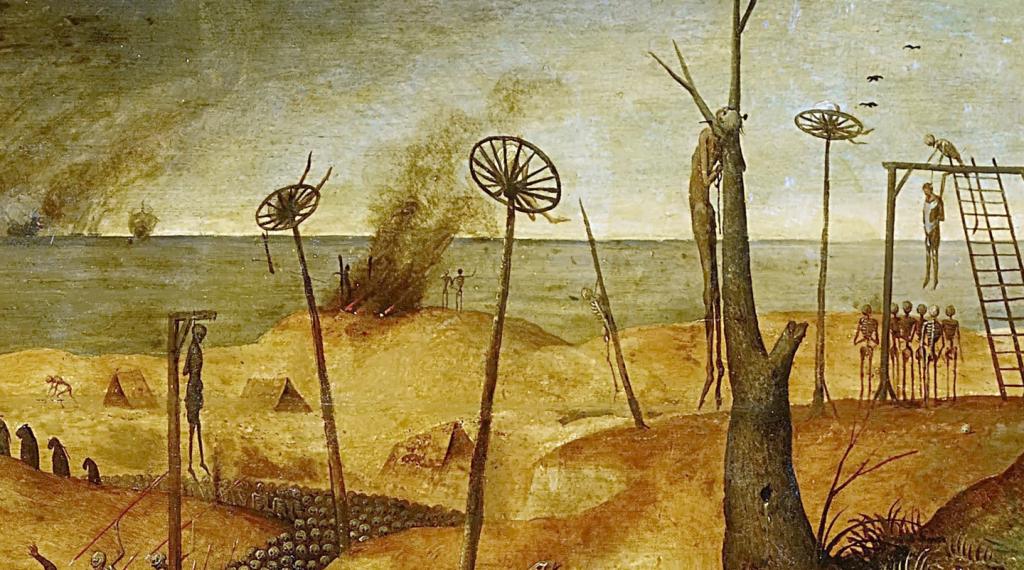 Détail du tableau Le Triomphe de la Mort par Brueghel