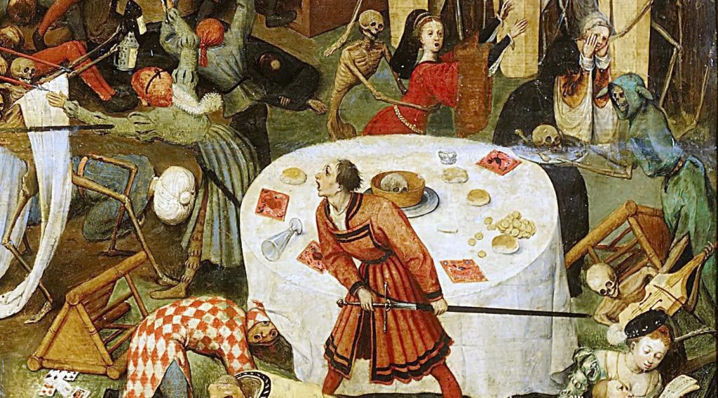 """Détail du tableau """"Le Triomphe de la Mort"""" de Brueghel"""